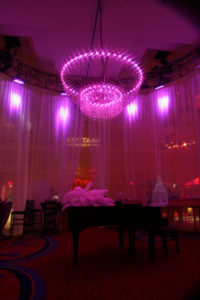 LED Chandelier - Purple